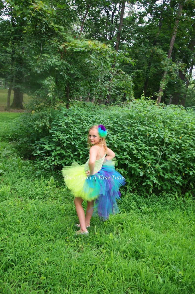 10607adbf Peacock Lime Green Bustle Tutu Newborn Baby 3 6 9 12 18 24   Etsy