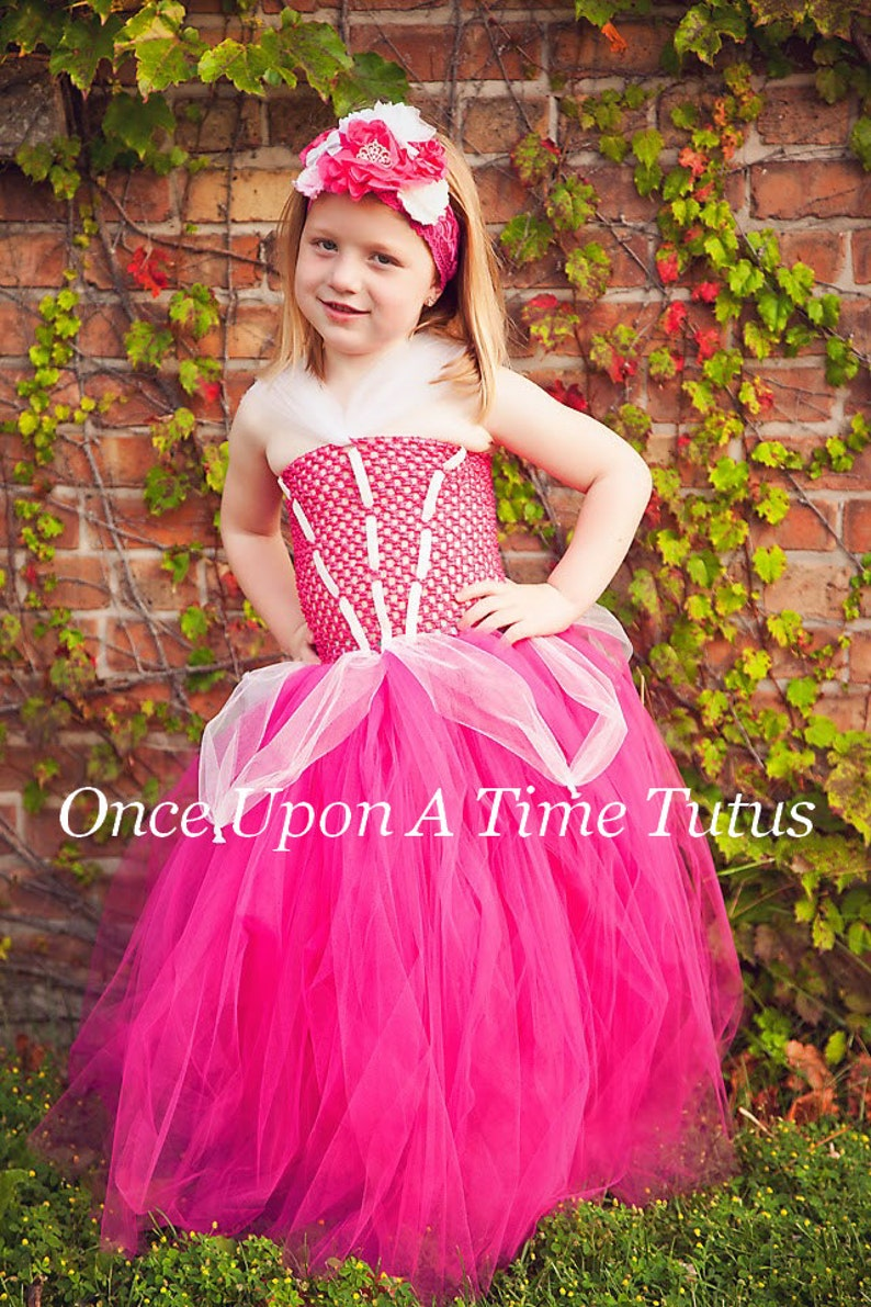 Birthday Outfit Pink Princess Tutu Dress Halloween Costume Kids Little Girls Size 6 12 18 Months 2T 3T 4t 5 6 7 8 10 12