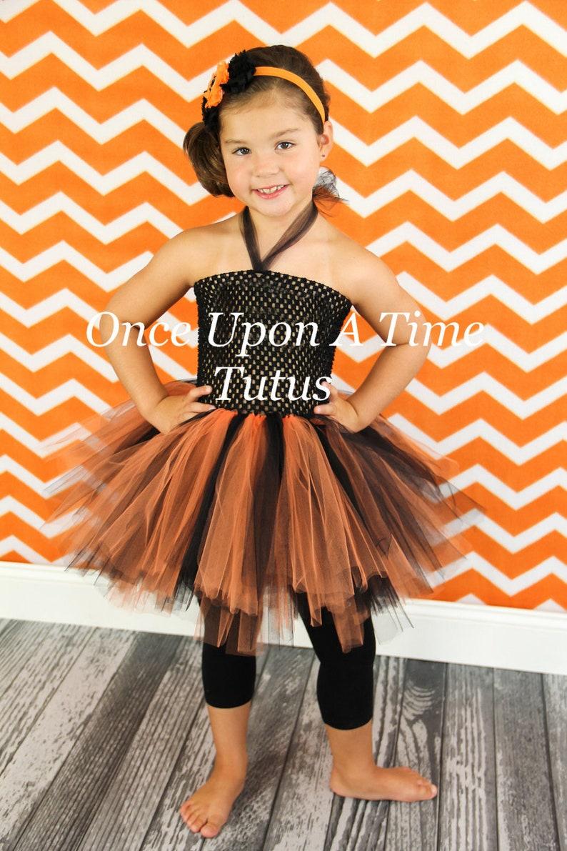 20ce84b6375 Orange Black Tutu or Dress Newborn Baby 6 12 Months Little