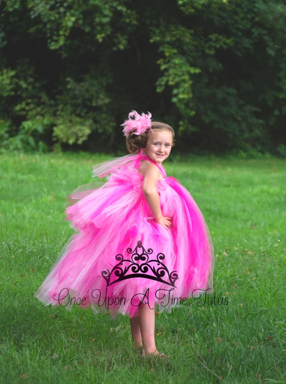 Flamingo Bustle Tutu Mixed Pink Feather Size Newborn Toddler Girls Adult Ladies