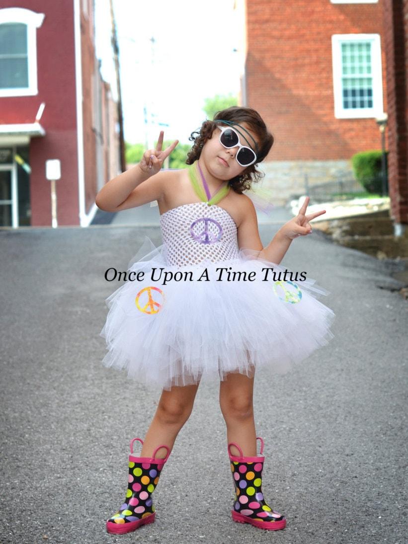Hippie Girl Halloween Costume.Hippie Girl Tutu Dress Tie Die Halloween Costume Baby Girl Newborn 6 12 18 Months 2t 3t 4 5 6 7 7 10 12 White W Tye Dye Baby Costume