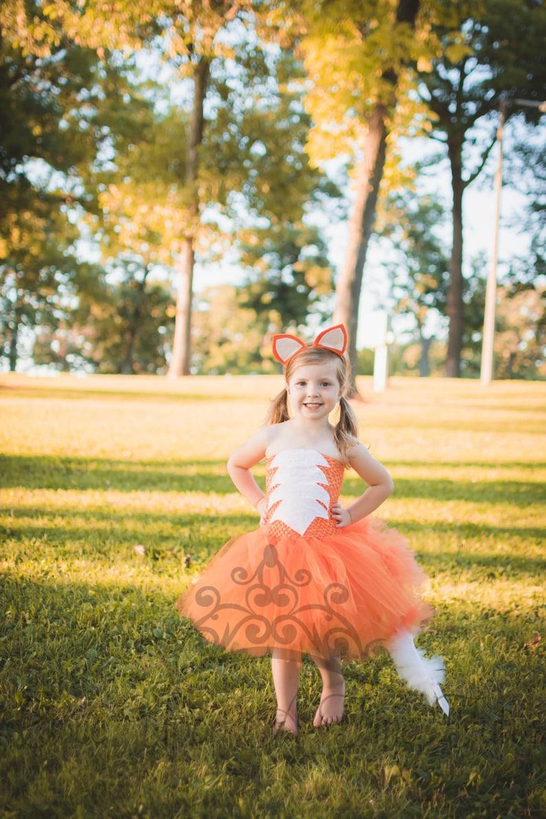 Fox Tutu Dress  Girls Size 12 18 Months 2T 3T 4T 5 6 7 8 9 10 image 0