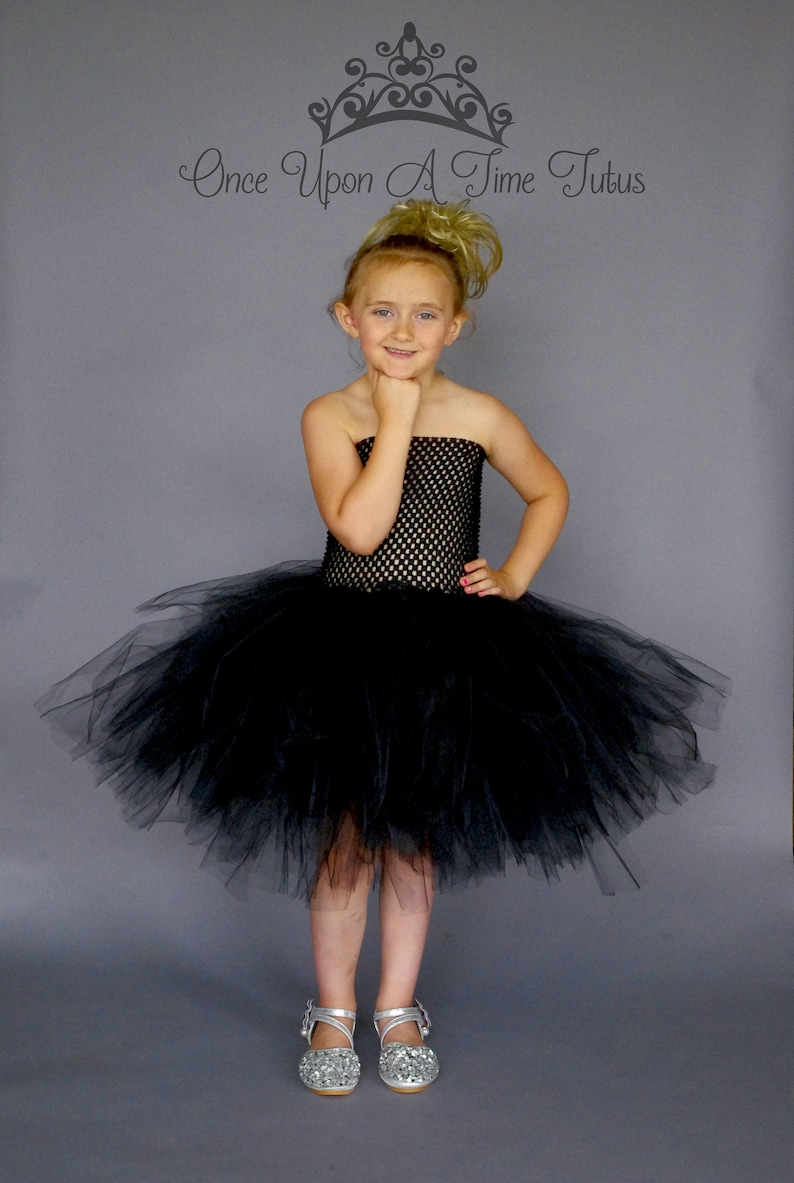 34a3a1f37d7 Solid Color Black Tutu Dress Little Girls or Baby Size