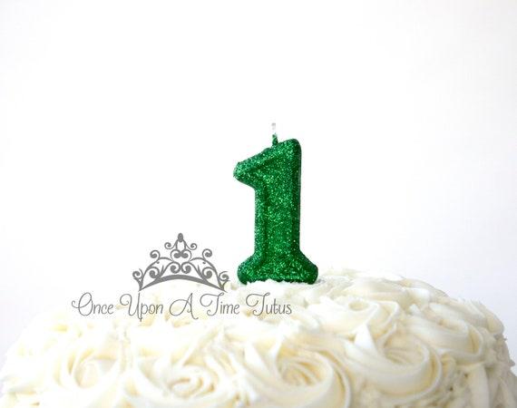 Fantastic Green Birthday Candle Custom Kids Party Decor St Patricks Etsy Funny Birthday Cards Online Alyptdamsfinfo