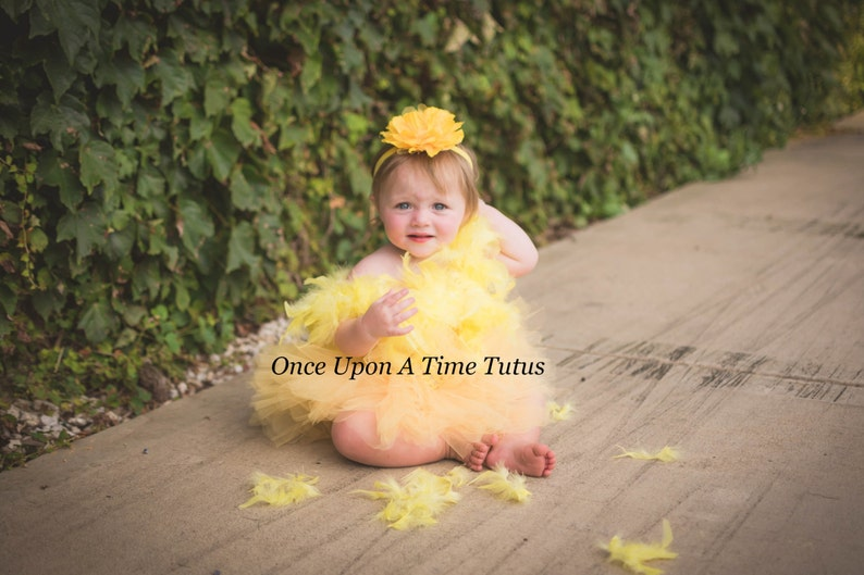 a073fe95bec Yellow Chicken Tutu Dress Girls Size Newborn 6 12 Months