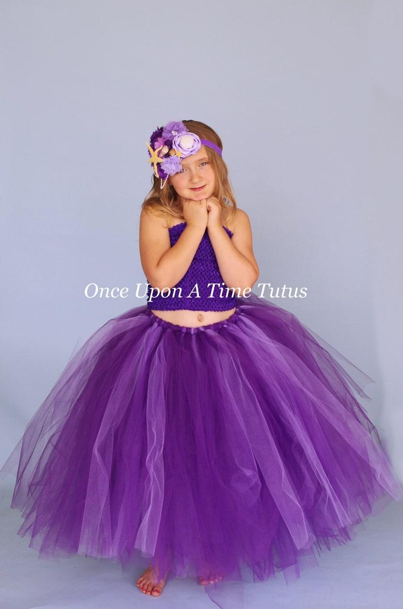 879ee6de946 Jupe Tutu Long violet et lavande petite fille taille enfant