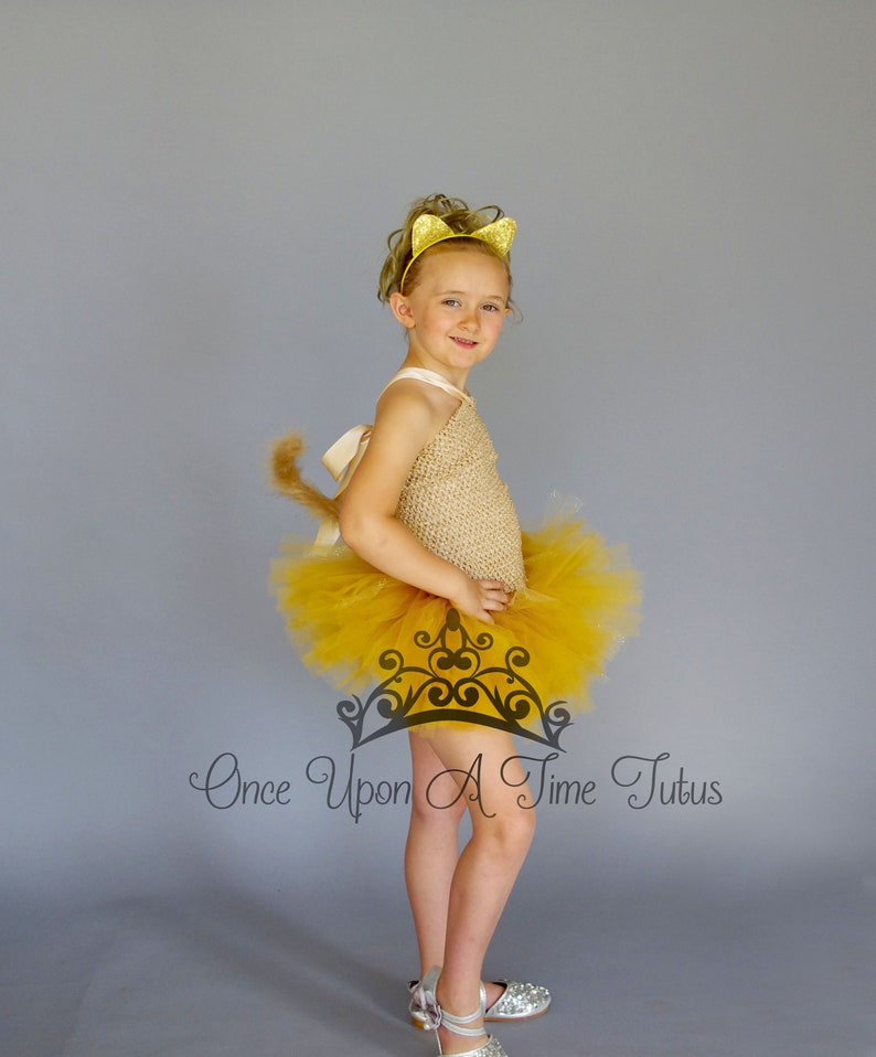 Tan Cat Tutu Dress Birthday Outfit Halloween Costume Baby   Etsy