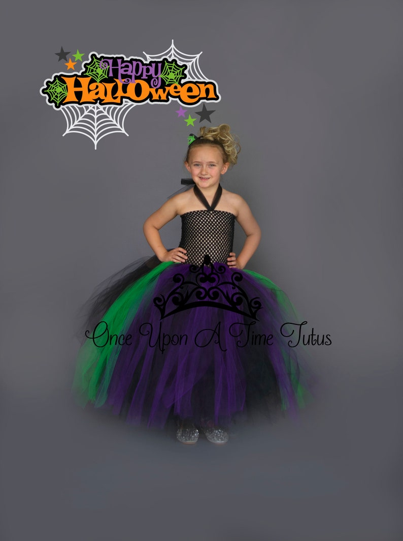 Baby Toddler Girls Teen Adult Halloween Costume Scary Spooky Witch Tutu