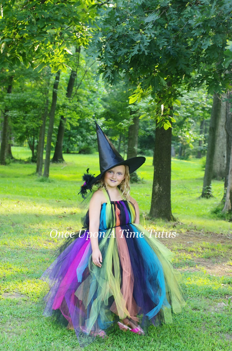 Halloween Costume 6 9 Months Uk.Rainbow Witch Tutu Dress Childrens Kids Size Girls Size 3 6 9 12 18 Months 2t 3t 4t 5t 6 7 8 10 12 Evil Witch Colorful Queen Lady