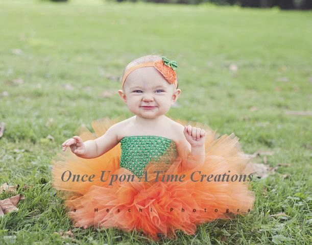 cf8515c68572 Little Pumpkin Tutu or Dress Newborn 3 6 9 12 18 24 Months | Etsy