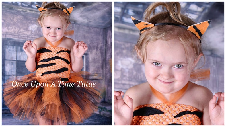 69b513fcdd Wild Tiger Tutu Dress Infant Baby Girl Dress Up Halloween | Etsy