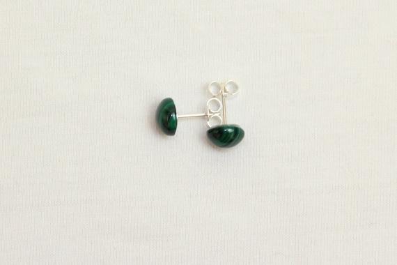 8mm x 10mm Malachite Studs 8 mm 10 mm Malachite Earrings Cabochon Stud Earring