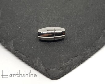 5mm hole stainless steel magnetic oval clasp. 18x9x9mm