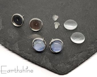 Round stud earring kit. 5 pairs. Just add nail varnish.