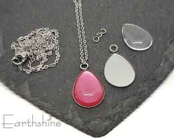 Teardrop necklace kit. Just add nail varnish.