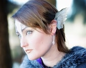 Costume Winged Angel Ear Cuffs, Steampunk Icarus Papered Wings, Greek God Mercury cosplay