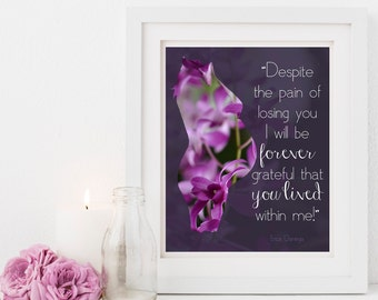 Pregnancy Loss, Digital Download, Remembrance, Mother, Miscarriage, Stillbirth, Infant Loss, Angelversary, You Lived, Bereavement, Sympathy