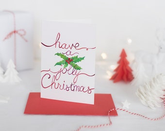 christmas cards and postcards curated by claire heart handmade uk