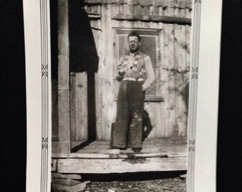 Original Antique Photograph Ray at His Shack 1939