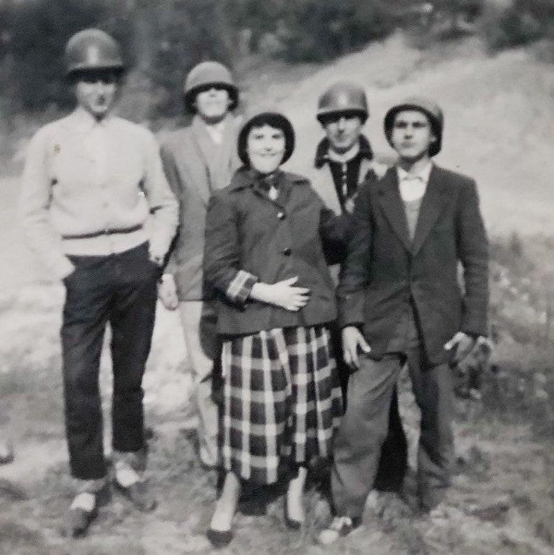 Original Vintage Photograph The Helmets