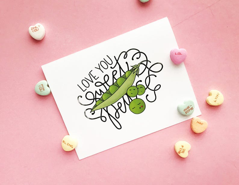 Love You Sweet Pea  Downloadable Card image 0