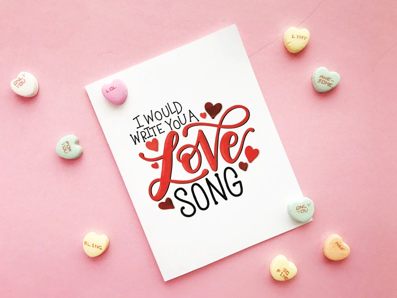 I Would Write You A Love Song  Downloadable Card image 0