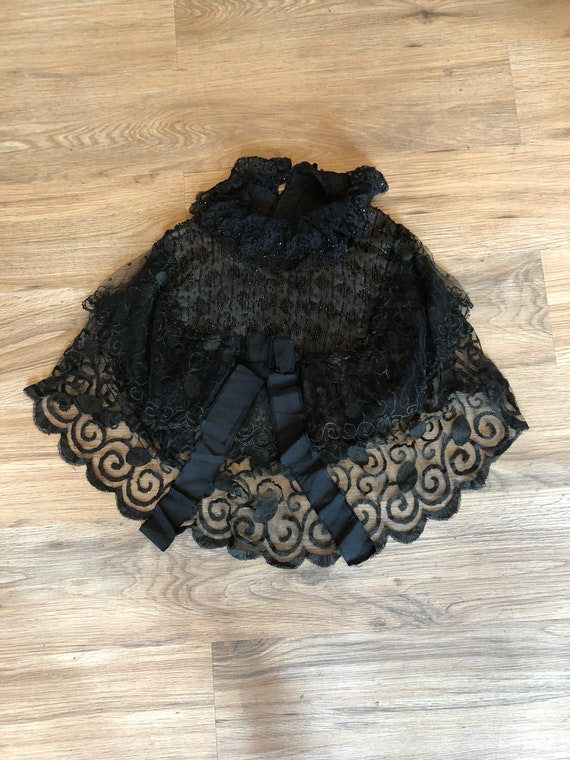 Victorian lace and beaded collar