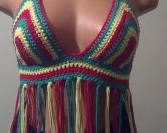 Rasta Princess Hippie Halter Festival Top