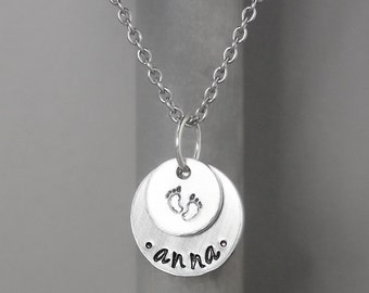 Mother Necklace, Mommy Necklace, Hand Stamped Jewelry, Personalized Jewelry, necklace for mom, custom necklace, gift for mom, name jewelry