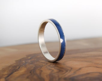 Lapis Lazuli Ring - Blue Meditation Ring - Sterling Silver Ring - Gift for Her - Anxiety Ring