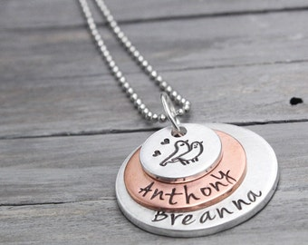 Mother Necklace, Mommy Necklace, Jewelry for Mothers, Personalized Gift Idea, Mother Necklace Birthstone,Child Name Necklac