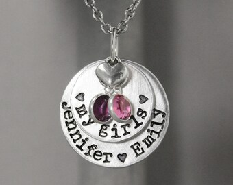 Mother Necklace - Birthstone Necklace - My Girls