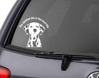 DOG BREED FUNNY CAR DECAL BUMPER STICKER WALL got dalmatian