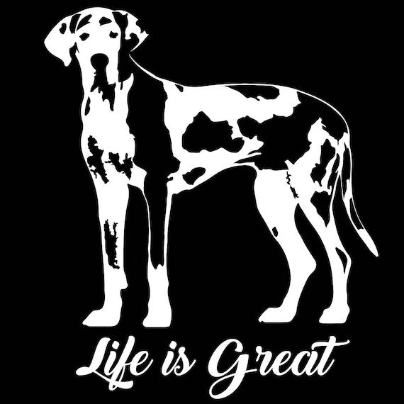 Great Dane Owner Bone Decal Sticker Choose Pattern Size #1630