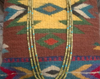 Vintage Santo Domingo Serpentine Heishi Necklace From The 1960's