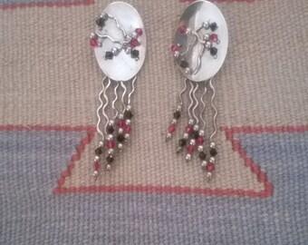 Retro 1980's Dangle Earrings