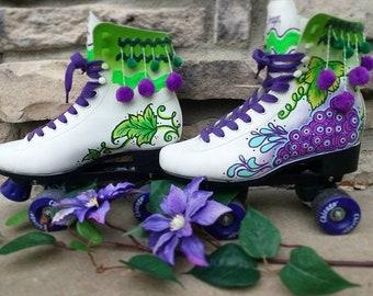 Chicago Roller Skates, Handpainted Skates, Custom Skates, Roller Skates, Chicago Skates, Handpanited Shoes, Roller Derby
