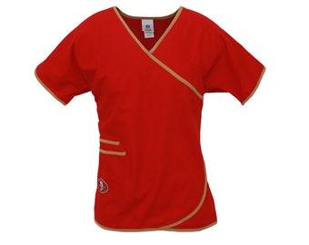 NFL San Francisco 49ers Scrub top-Nfl San Francisco 49ers Scrub Shirt-Nfl  Women Scrubs-NFL SCRUBS 8a6fc4c6c