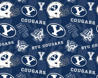 BYU Tone on Tone 100% cotton fabric-Sold by the Yard-Newest Design 7a34c783a7b8
