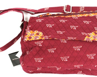 Virginia Tech Hokies Messenger Bag-Virginia Tech Messenger Bag-Virginia Tech  Quilted Bag 4cd105931ae99
