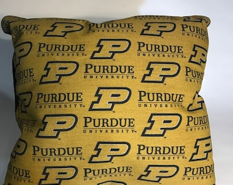 Purdue Throw Pillow-Purdue Accent Pillow-Perfect for Dorms, Dens, Bedrooms, Cars, etc