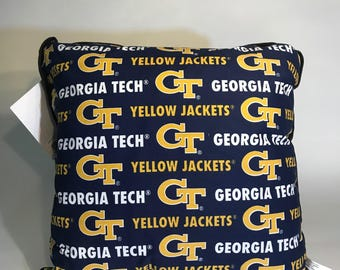 Georgia Tech Throw Pillow-Georgia Tech Accent Pillow-Perfect for Dorms, Dens, Bedrooms, Cars, etc