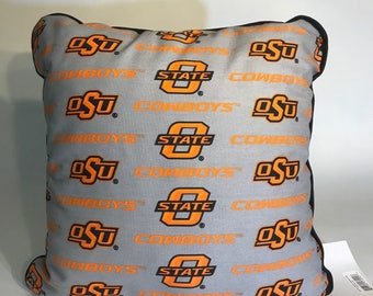 Oklahoma State University Throw Pillow-OSU Accent Pillow-Perfect for Dorms, Dens, Bedrooms, Cars, etc