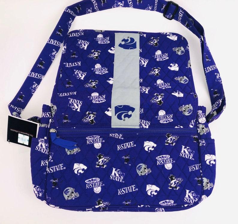 KANSAS State Messenger Bag-Kansas State Wildcats Messenger Bag-Kansas State Quilted Bag