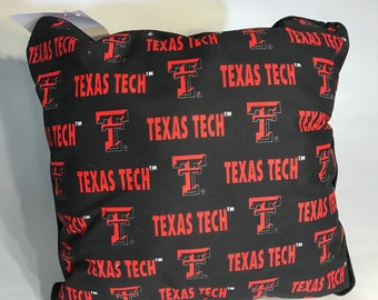 Texas Tech Throw Pillow-Texas Tech Accent Pillow-Perfect for Dorms, Dens, Bedrooms, Cars, etc