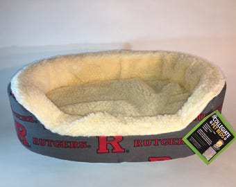 Rutgers Pet Bed-Rutgers Dog Bed with Removable Washable Cover-Pets will love it