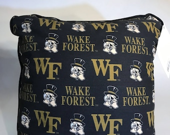 Wake Forrest Throw Pillow-Wake Forrest Accent Pillow-Perfect for Dorms, Dens, Bedrooms, Cars, etc