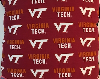 Virginia Tech Throw Pillow-Virginia Tech Accent Pillow-Perfect for Dorms, Dens, Bedrooms, Cars, etc