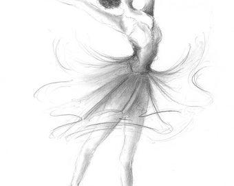Disegni Di Ballerine Da Disegnare : Quadro ballerina etsy