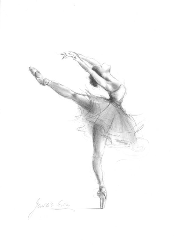 Print Of Ballerina Print Of Sketch Print Of Drawing Etsy